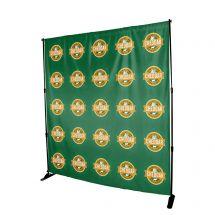8' x 8' Full Color Backdrop Banner - No Kit