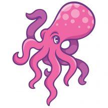Sea Life Pals Octopus Wall Decal