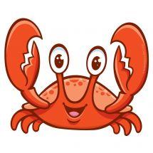 Sea Life Pals Crab Wall Decal