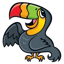 Jungle Friends Toucan Wall Decal