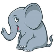 Jungle Friends Elephant Wall Decal