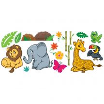 Jungle Friends Assorted Wall Decals