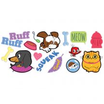 Playful Pets Assorted Wall Decals