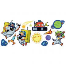 Silly Space Assorted Wall Decals