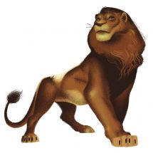 The Lion King Simba Peel & Stick Decal