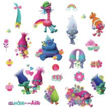 Trolls Glitter Assorted Decals