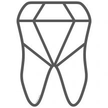 Diamond Tooth Wall Decal