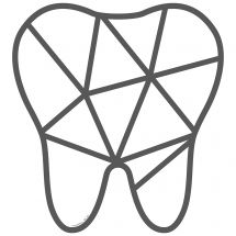 Triangular Tooth Wall Decal