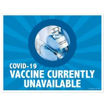 COVID-19 Vaccine Currently Unavailable Wall Decal