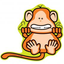 Flossing Monkey Wall Decal