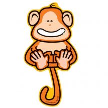 Smiling Monkey Wall Decal