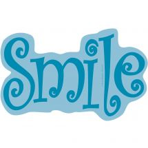 Blue Smile Wall Decal