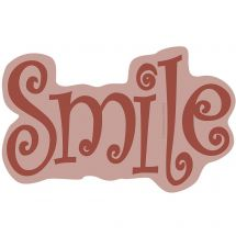 Red Smile Wall Decal