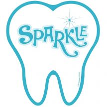 Sparkle Tooth Wall Decal