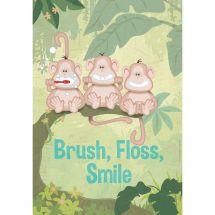 Brush, Floss, Smile Monkeys Poster