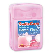 12 Yards SmileCare Waxed Bubblegum Floss