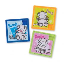 Brush Floss Smile Monkey Slide Puzzle