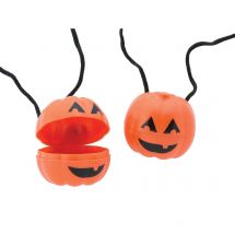 Jack O' Lantern Tooth Holder Necklaces