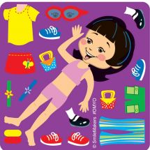 Make-Your-Own Dress-Up Girl Stickers