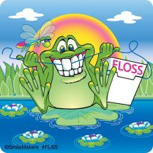 Flossing Frogs Stickers