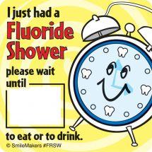 Fluoride Shower Stickers