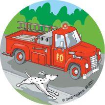 Fire Trucks Stickers