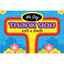 Thank You with Smile Greeting Cards