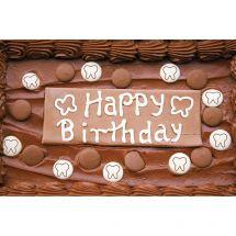 Chocolate Birthday Cake Greeting Cards
