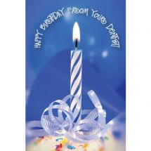 Dental Birthday Candle Greeting Cards
