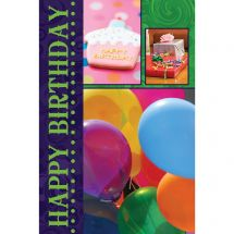 Birthday Photos Greeting Cards with Personalized Envelopes