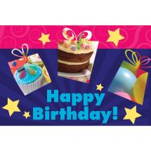 Happy Birthday Stars Greeting Cards