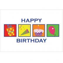 Birthday Squares Greeting Cards