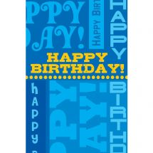 Happy Birthday Words Greeting Cards with Personalized Envelopes