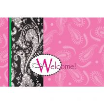 Welcome Paisley Greeting Cards
