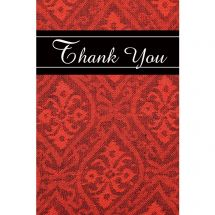 Thank You Red and Black Greeting Cards