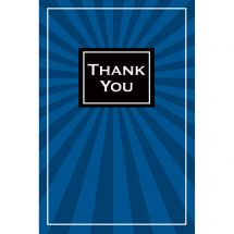 Thank You Shining Blue Greeting Cards