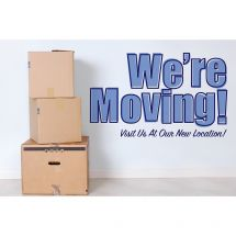 We're Moving Boxes Greeting Cards