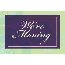 We're Moving Purple and Green Greeting Cards