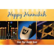 Happy Hanukkah Dental Team Greeting Cards