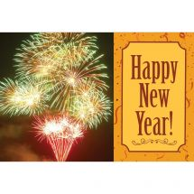 Happy New Year Fireworks Greeting Cards