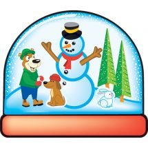 Make Your Own™ Snow Globe Stickers