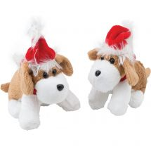 Plush Bean Bag Christmas Dogs
