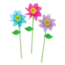 Happy Flower Pinwheels
