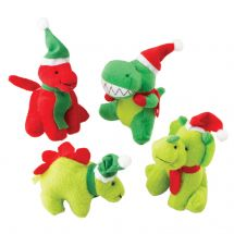 Plush Christmas Dinosaurs