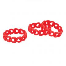 Silicone Heart Bracelets
