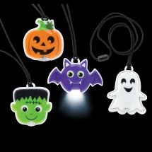 Light-Up Halloween Necklaces