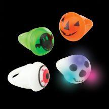 Flashing Halloween Light-Up Rings