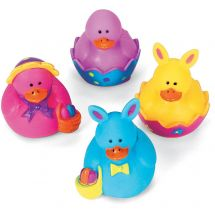 Bright Mini Easter Rubber Ducks