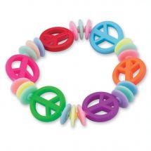 Peace Sign Bead Bracelets