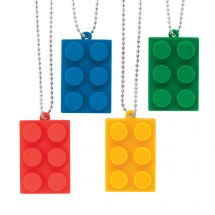 Building Block Dog Tag Necklaces